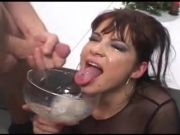 Ball Batter drinking from bowl