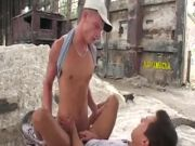 Gay hookup quickie with BJ and anal