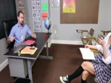 Hard fuck from her horny teacher inside the school detention