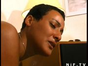 French tanned cutie anal screwed