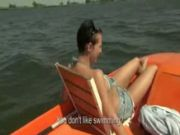 big Titty amateur model paid and fucked on a boat